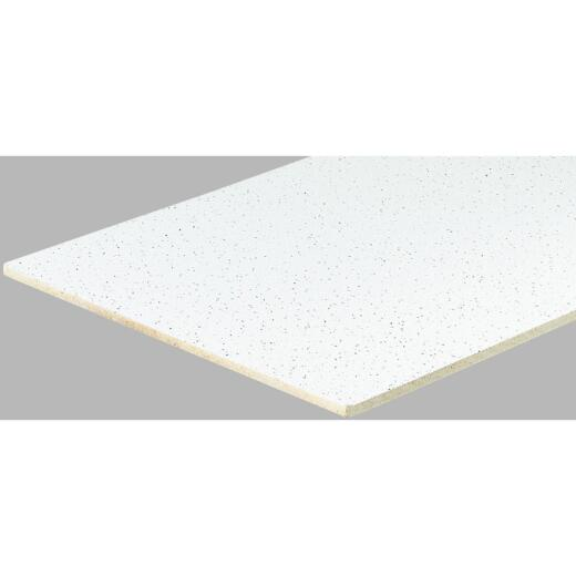 Radar Fissured 2 Ft. x 4 Ft. White Mineral Fiber Square Edge Suspended Ceiling Tile (16-Count)