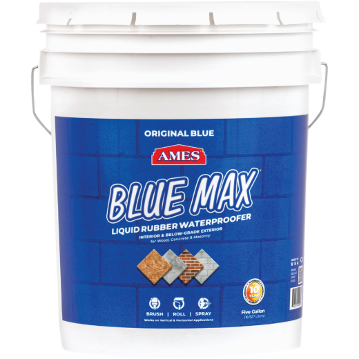 Ames Blue Max 5 Gal. Liquid Rubber Membrane Waterproofing Coating
