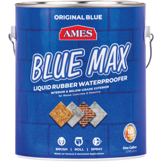 Ames Blue Max 1 Gal. Liquid Rubber Membrane Waterproofing Coating