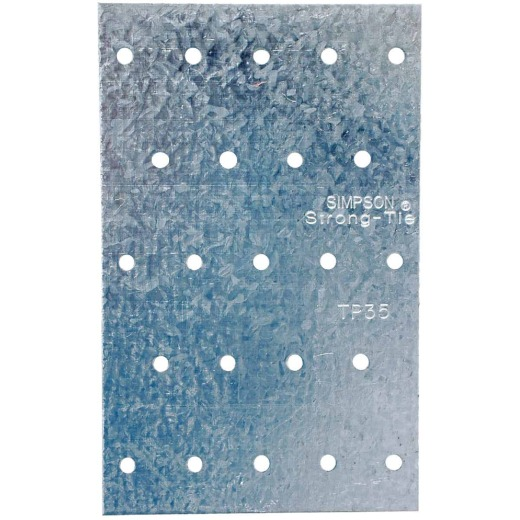 Simpson Strong-Tie 3-1/8 in. W. x 5 in. L. Galvanized Steel 20 Gauge Tie Plate