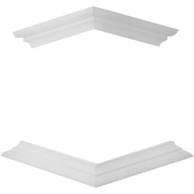 Crown Column DuraSnap 6 In. x 6 In. White PVC Bed Mould Post Trim Kit