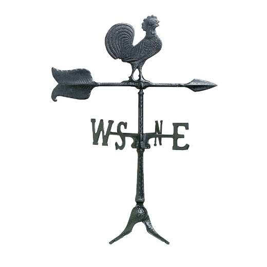 Whitehall Products 24 In. Black Aluminum Rooster Weather Vane