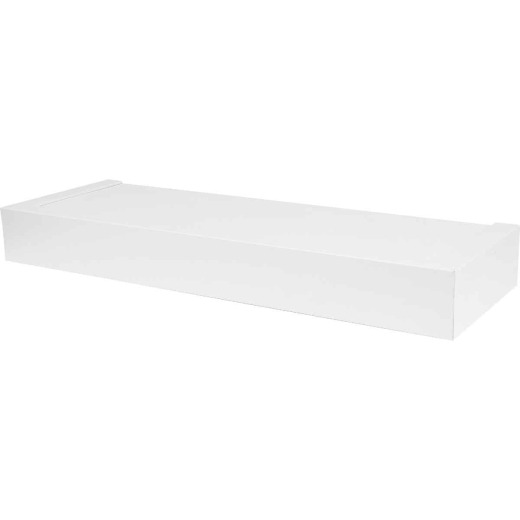 High and Mighty 18 In. White Floating Shelf