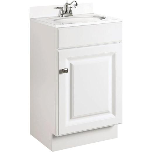 Design House Wyndham White 18 In. W x 31-1/2 In. H x 16 In. D Vanity Base, 1 Door