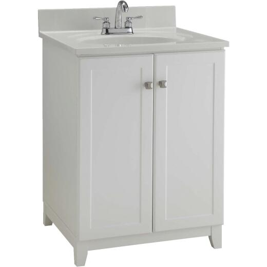 Design House Shorewood White 24 In. W x 33 In. H x 21 In. D Vanity Base, 2 Door