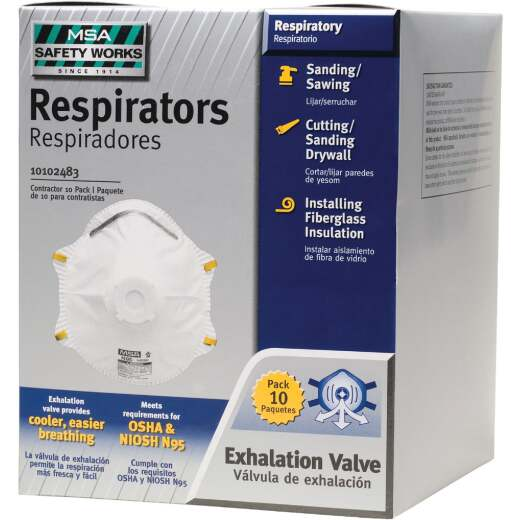 Safety Works N95 Harmful Dust Respirator with Valve (10-Pack)