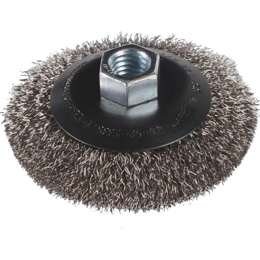 Milwaukee 4 In. Crimped .012 In./.014 In. Angle Grinder Wire Wheel