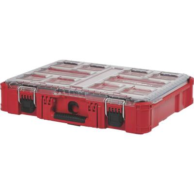 Milwaukee PACKOUT 15 In. W x 4.50 In. H x 19.75 In. L Small Parts Organizer with 10 Bins