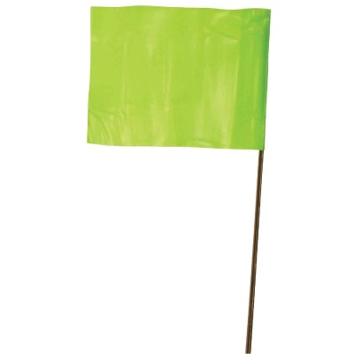 Empire 21 In. Steel Staff Lime Marking Flags