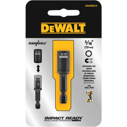 DeWalt Impact Ready 5/16 In. x 2 In. Cleanable Magnetic Nutdriver