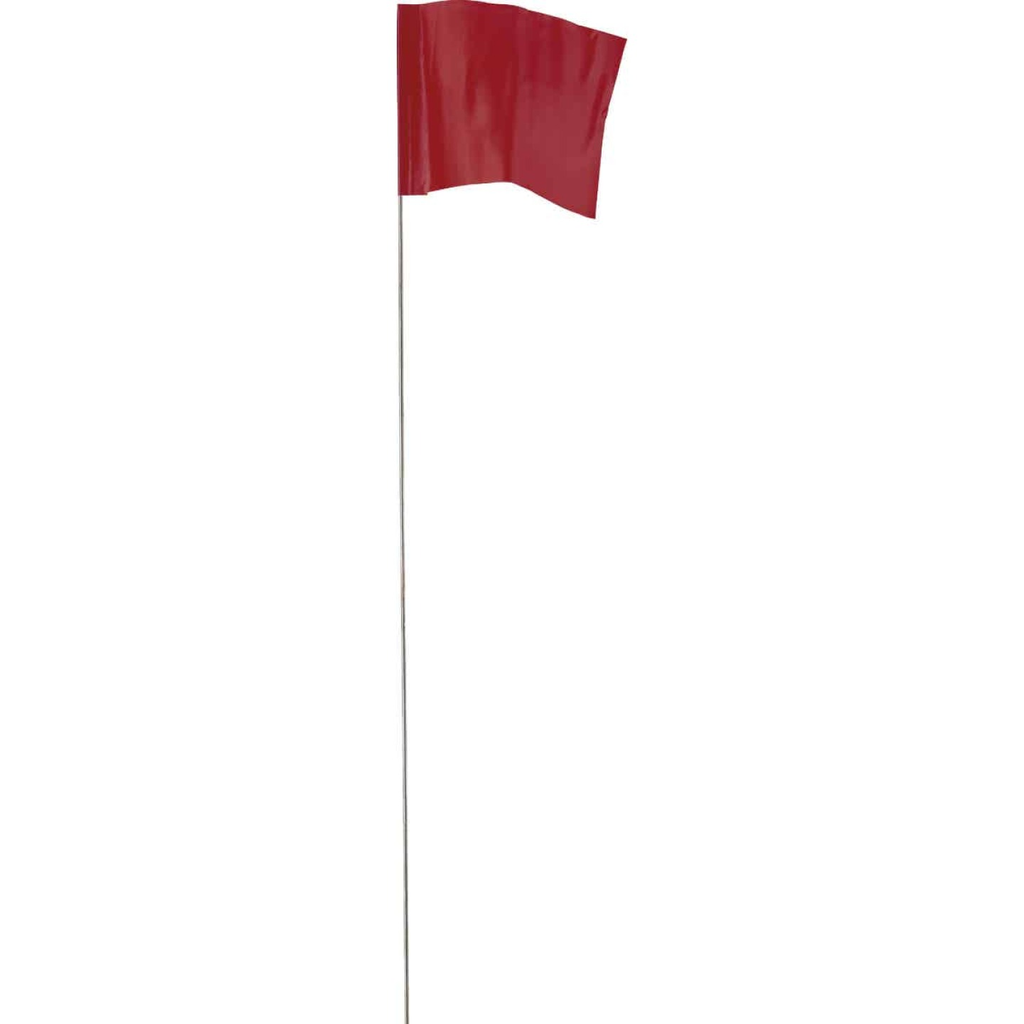 Empire 21 In. Steel Staff Red Marking Flags Image 1
