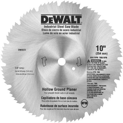 DeWalt Industrial Steel 10 In. 80-Tooth Hollow Ground Planer Circular Saw Blade
