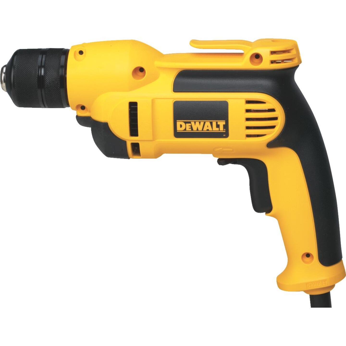 DeWalt 3/8 In. 8-Amp Keyless Electric Drill Image 4
