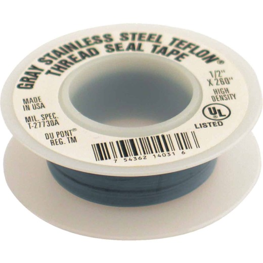 PLUMB-EEZE 1/2 In. x 260 In. Gray Non-Stick Coating Thread Seal Tape