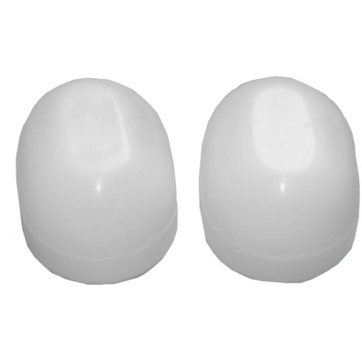 Lasco Oval White Plastic Snap-On Toilet Bolt Caps (2 Ct.)