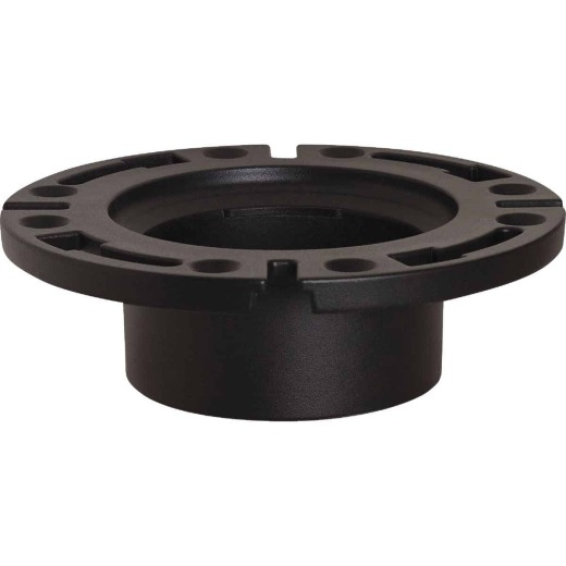 Sioux Chief 4 In. Hub ABS Open Toilet Flange w/1-Piece Plastic Ring