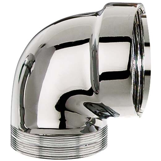 Do it 1-1/2 In. Polished Chrome Cast Brass Sink Trap Elbow
