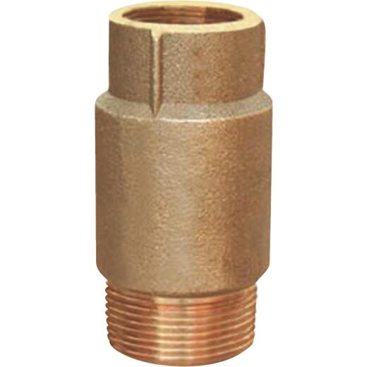 Simmons 1 In. F X 1-1/4 In. M Silicon Bronze Spring Loaded Check Valve