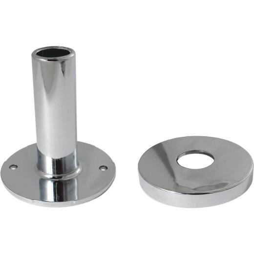 Keeney 1/2 In. Chrome-Plated Pipe Cover Tube and Flange