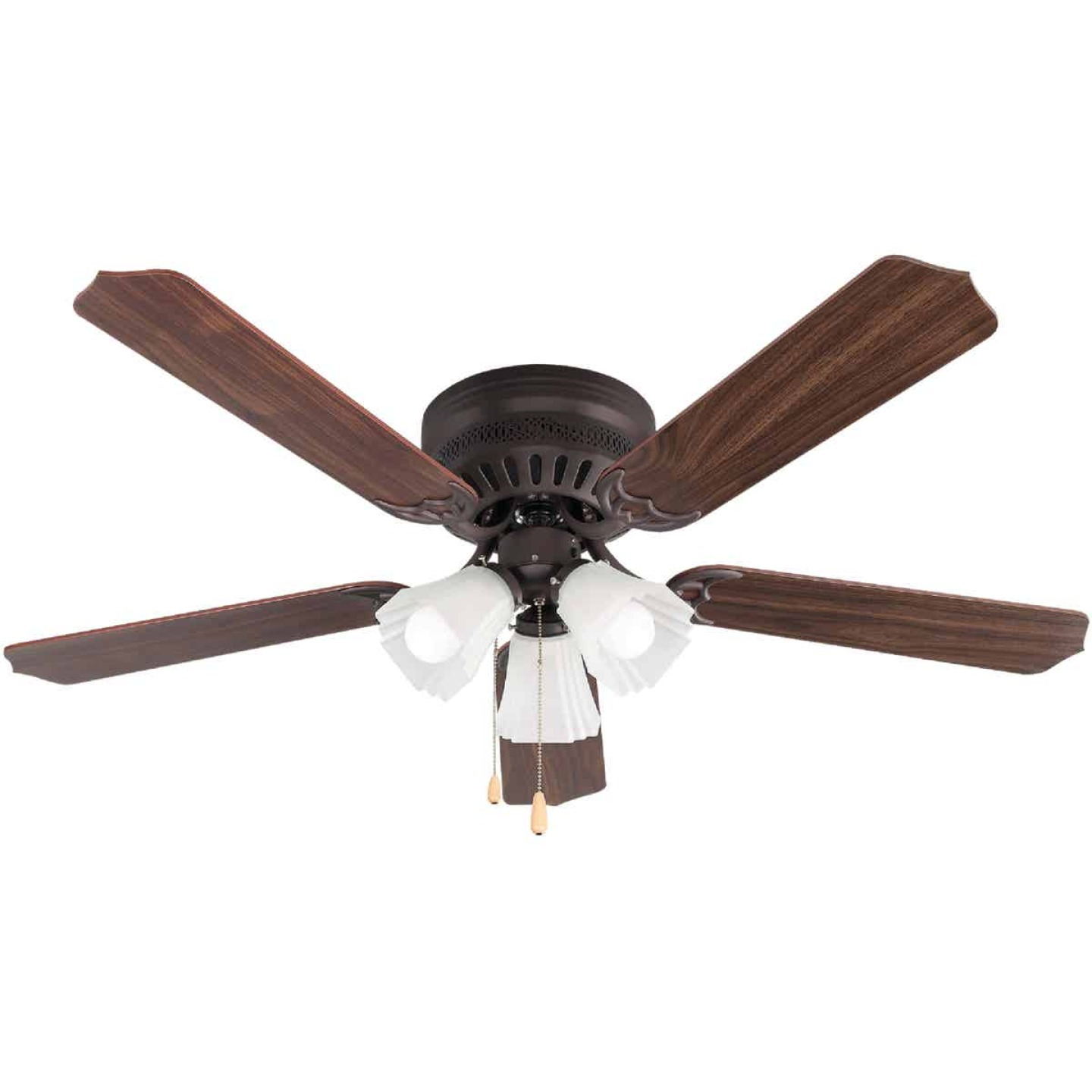 Home Impressions Piedmont 52 In. Oil Rubbed Bronze Ceiling Fan with Light Kit Image 1