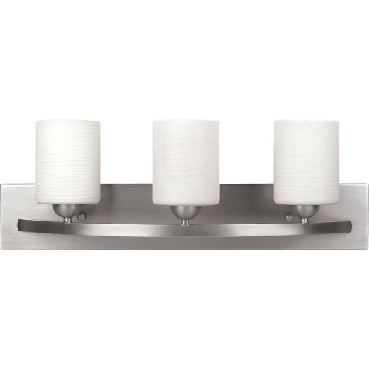 Home Impressions Hampton 3-Bulb Brushed Nickel Bath Light Bar