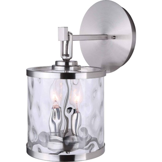 Home Impressions Cala 2-Bulb Brushed Nickel Wall Light Fixture