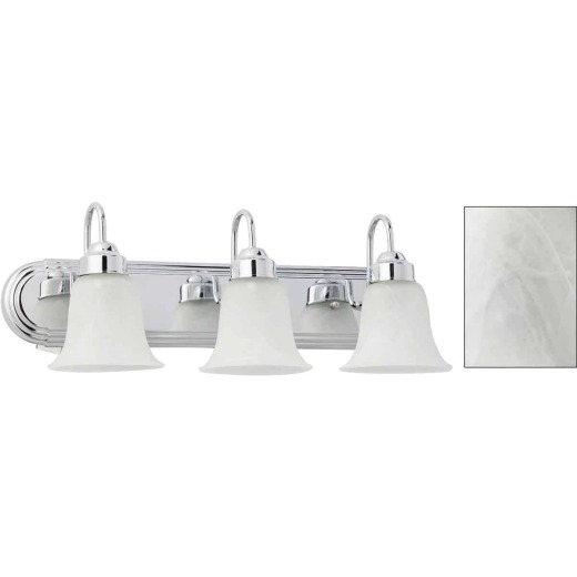Home Impressions Julianna 3-Bulb Chrome Vanity Bath Light Bar