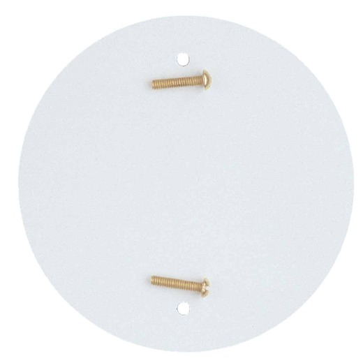Westinghouse 4-3/4 In. White Blank-Up Plate