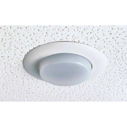 Thomas 6 In. White Drop Opal Recessed Fixture Trim