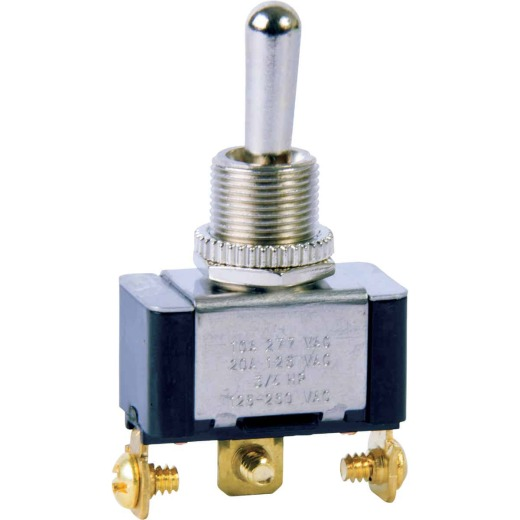 Gardner Bender Heavy-Duty SPDT 3-Screw Double ThrowToggle Switch