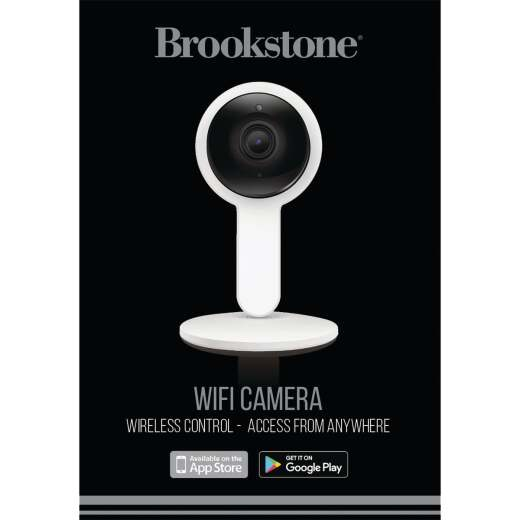 Brookstone Plug-In Indoor White Wi-Fi Security Camera