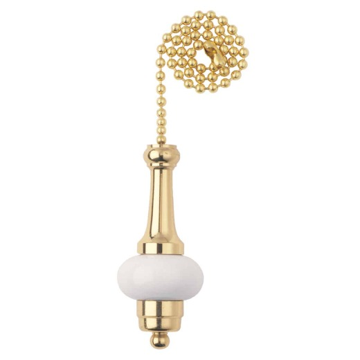 Westinghouse 12 In. Polished Brass Ball Pull Chain