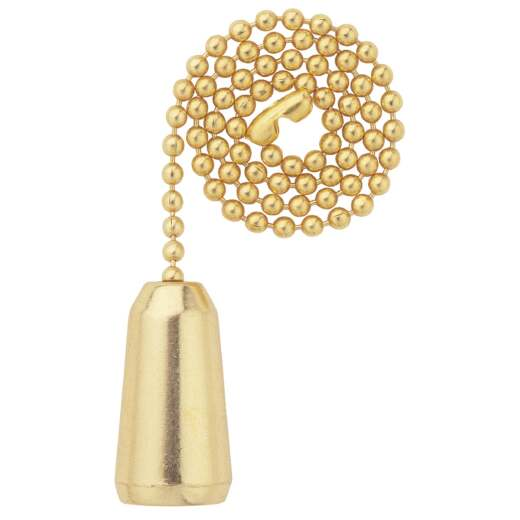 Westinghouse 12 In. Polished Brass Pull Chain with Teardrop Ornament
