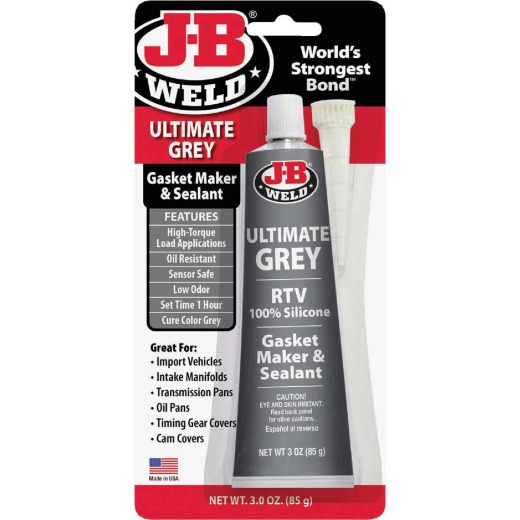 J-B Weld 3 Oz. Ultimate Grey RTV Silicone Gasket & Sealant