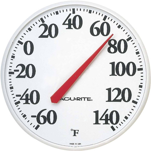 "Acurite 12.5"" Dia Plastic Dial Indoor & Outdoor Thermometer"