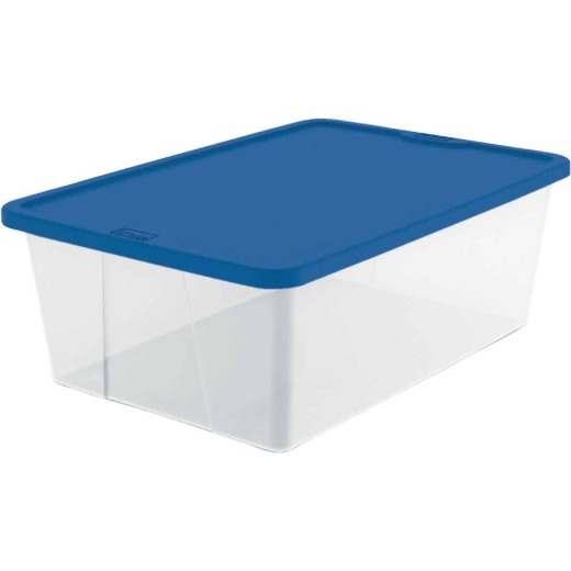 Homz 12 Qt. Clear Storage Tote