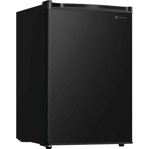 Perfect Aire 2.7 Cu Ft. Black Single Door Refrigerator
