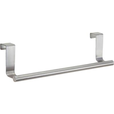 InterDesign Zia 9-1/4 in. Brushed Stainless Steel Over The Cabinet Towel Bar