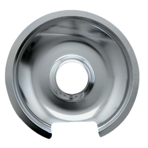 "Range Kleen Electric 8"" Style D Round Chrome Drip Pan"