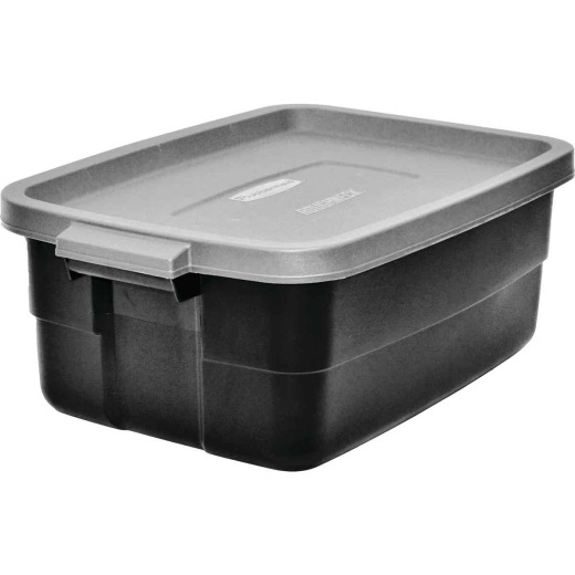 Rubbermaid Roughneck 10 Gal. Black Storage Tote