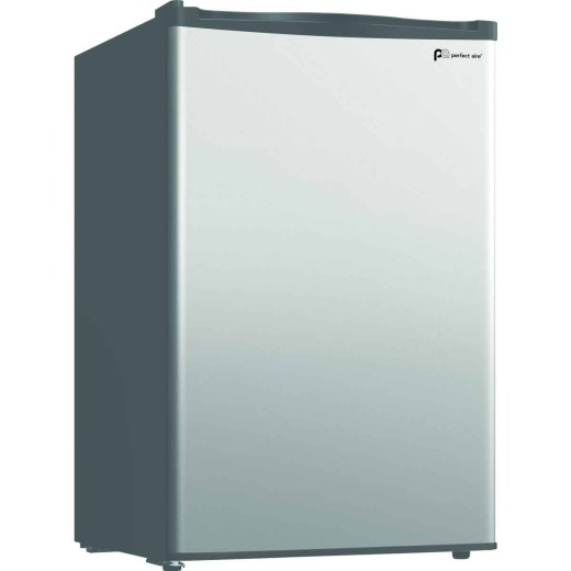 Perfect Aire 4.4 Cu Ft. Silver Single Door Refrigerator with Crisper