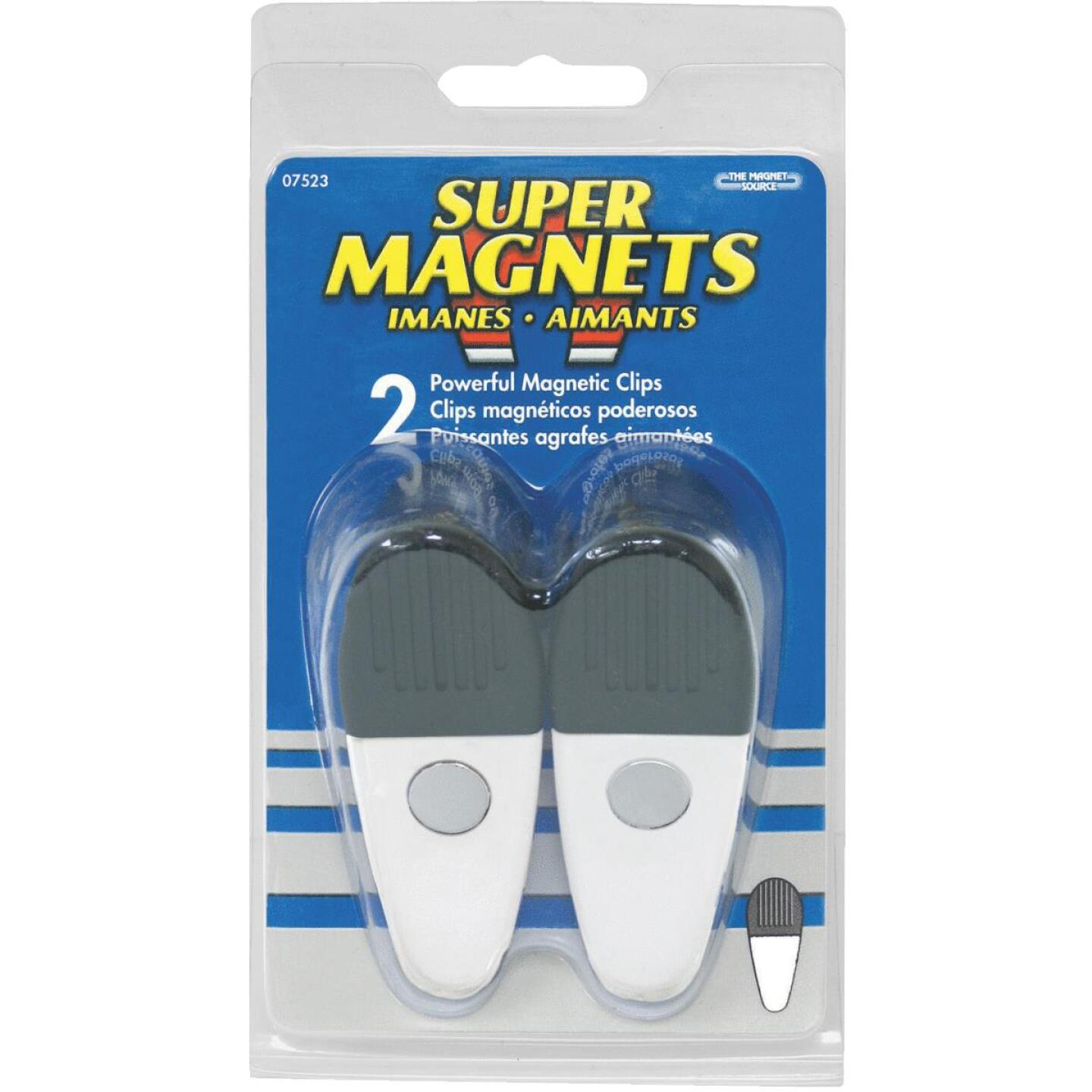 Master Magnetics 3-1/2 In. White Magnetic Clip (2 Count) Image 2
