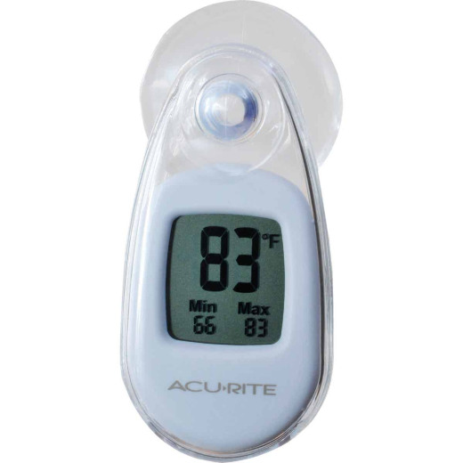 Acurite Digital -4 deg to 158 deg Fahrenheit White Window Thermometer