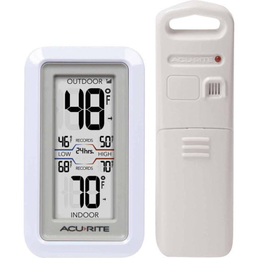 Acu-Rite Digital Thermometer with Indoor/Outdoor Sensor