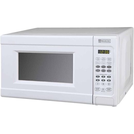 Perfect Aire 0.7 Cu. Ft. White Countertop Microwave