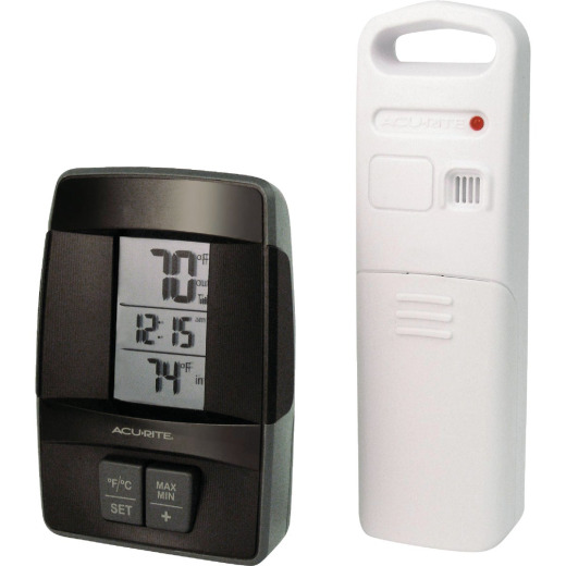 "Acurite 1.6"" W x 4.8"" H Sensor Wireless Indoor & Outdoor Thermometer"