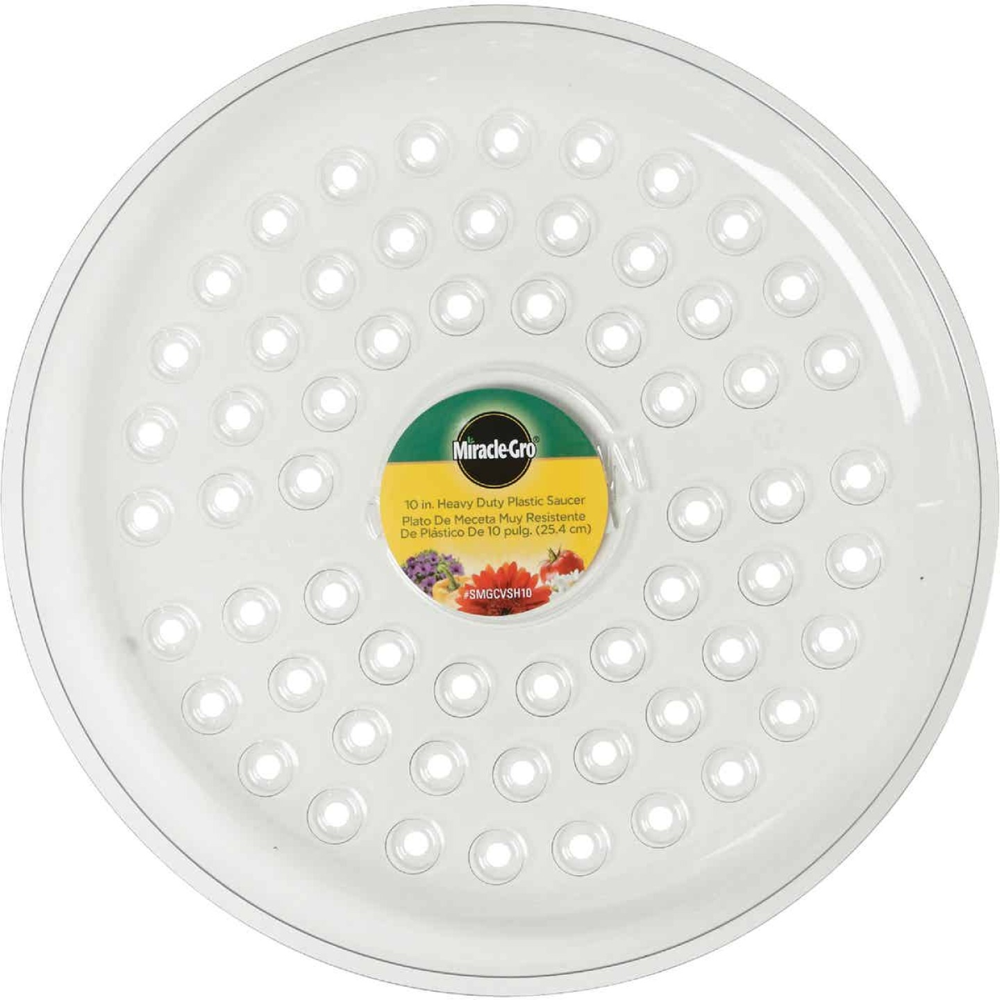 Miracle-Gro 10 In. Clear Plastic Flower Pot Saucer Image 2