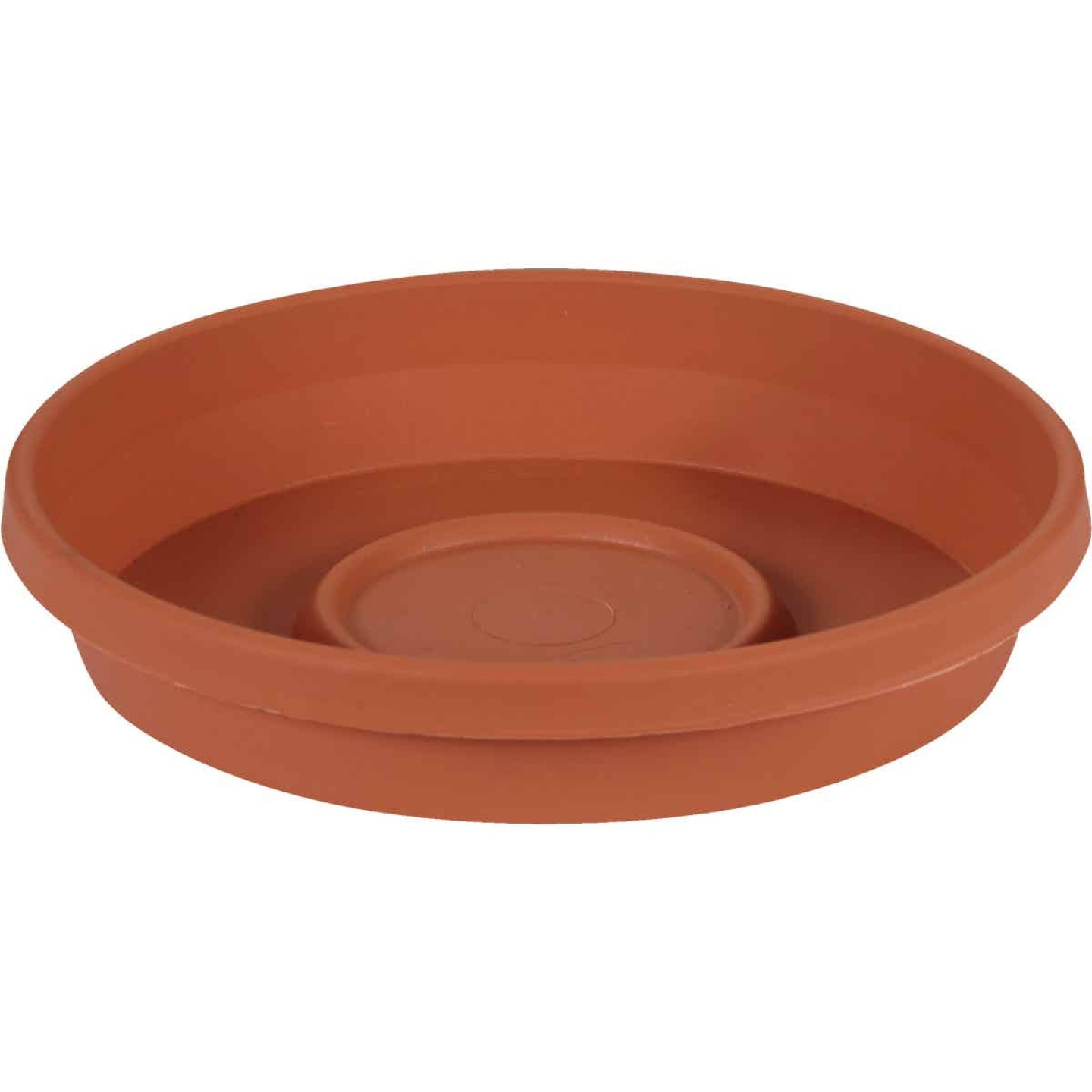 Bloem 14 In. Terracotta Poly Classic Flower Pot Saucer Image 1