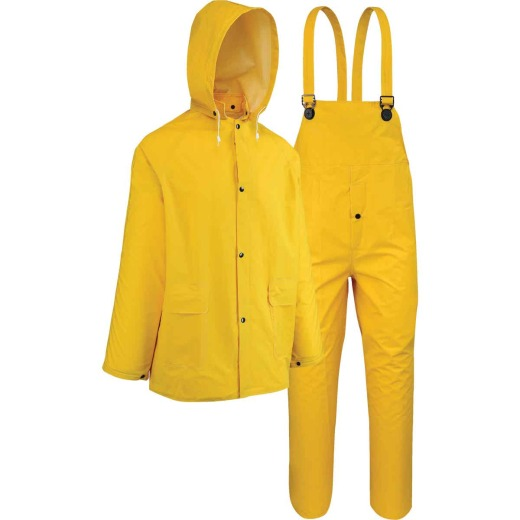 West Chester Medium 3-Piece Yellow PVC Rain Suit