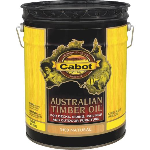 Cabot Australian Timber Oil Translucent Exterior Oil Finish, Natural, 5 Gal.